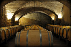 France Wine Cellar Royalty Free Stock Photo