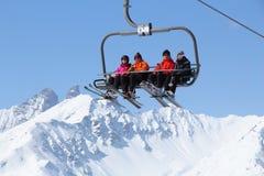 France winter skiing Royalty Free Stock Photo
