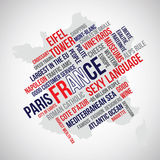 France Word Vector Royalty Free Stock Photo