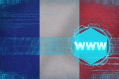 France www (world wide web). Electronic concept. Royalty Free Stock Photo