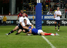 France XIII contra Scotland XIII Fotos de Stock