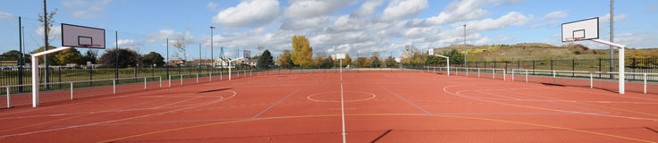 France, Yvelines, sports ground in Les Mureaux Stock Image