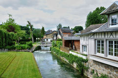 Francee malowniczy miasto Ry w Normandie Obraz Stock