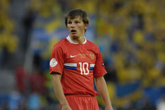 FranceFootball 2009 Best 30Players Andrei Arshavin. Andrei Arshavin (RUSSIA) during the Euro 2008 - Russia - Sweden 2:0. During the winter tranfer january 2009 stock photo