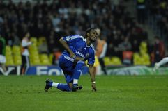 FranceFootball 2009 Best 30Players Didier Drogba. Didier Drogba(Chelsea, Cote D'Ivoire) one of the best goalscorers of the 2009 season during the UEFA CHAMPIONS royalty free stock photo