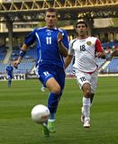 FranceFootball 2009 Best 30Players - Edin Dzeko. Edin Dzeko - Bosnia (Wolfsburg) - one of the best strikers in Bundesliga during the WC Qualifying round Group 5 royalty free stock photography