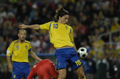 France Football 2009 Best 30 Players Ibrahimovic. Zlatan Ibrahimovic (Sweden - Inter, Barcelona) one of the best world goal scorers stock photos