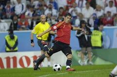 FranceFootball 2009 Beste 30Players David Villa Royalty-vrije Stock Afbeeldingen