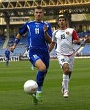 FranceFootball 2009 beste 30Players - Edin Dzeko lizenzfreie stockfotografie