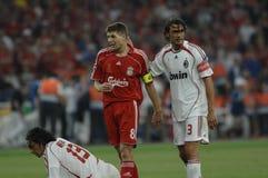 FranceFootball 2009 beste 30Players Stiven Gerrard lizenzfreie stockfotos