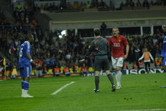 FranceFootball 2009 i migliori 30Players - Nemanja Vidic Immagine Stock