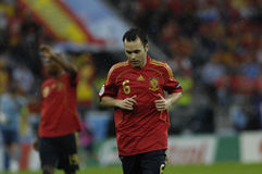 FranceFootball 2009 meilleurs 30Players Andres Iniesta Photo stock