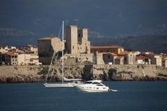 Frances, côte bleue, Antibes, le vieux village Images libres de droits
