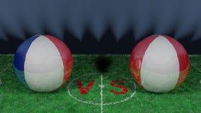 Frances contre le Pérou Coupe du monde 2018 de la FIFA Image 3D originale Image libre de droits