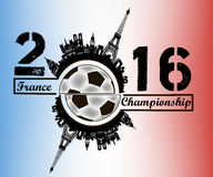 Frances 2016 de championnat illustration stock