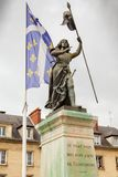 Frances de compiegne de statue d'arc de Jeanne d Photographie stock libre de droits