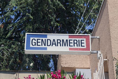 Frances de gendarmerie Photographie stock