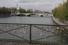 Frances de Paris de pont d'amour Image libre de droits