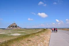 Frances du nord de la Normandie d'île de marée de le Mont Saint-Michel Photographie stock