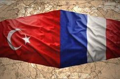 Frances et la Turquie Photo stock
