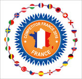 Frances européennes de qualificateurs 2016 pays participants au tournoi final du football de l'euro Image stock