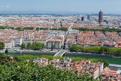 Frances historiques de Lyon de bâtiments Photo libre de droits