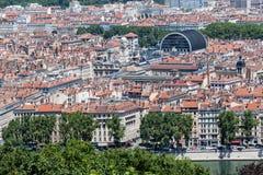 Frances historiques de Lyon de bâtiments Images stock