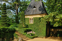 Frances, Jardins du Manoir pittoresque d Eyrignac dans Dordogne Image stock