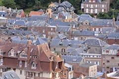 Frances l'Europe de la Normandie de ville d'Etretat d'Amont de Falaise Image libre de droits