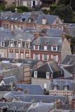 Frances l'Europe de la Normandie de ville d'Etretat d'Amont de Falaise images libres de droits