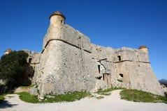 Frances, la Côte d'Azur, fort du Mont Alban Photographie stock libre de droits