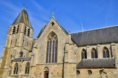 Frances, la ville pittoresque d'Ecouis dans Normandie Image libre de droits