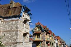 Frances, la ville pittoresque de Le Touquet Images stock