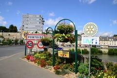 Frances, la ville pittoresque de Pontoise Photo stock
