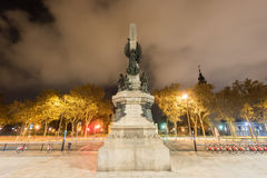 Francesc de Paula Rius i Taulet Monument - Barcelona Stock Photo