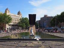 Francesc Macia纪念品, Placa de Catalunya,巴塞罗那 图库摄影