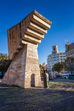 Francesc Macia Memorial på Placa de Catalunya, Barcelona, Spanien Arkivbild