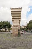 Francesc Macia monument in Catalonia Square Barcelona, Spain Stock Photography