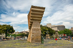 Francesc Macia Monument in Placa de Catalunya Royalty Free Stock Photo