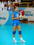 Francesca Piccinini, squadra italiana di pallavolo Immagini Stock