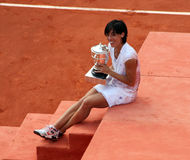 Francesca SCHIAVONE (ITA) at Roland Garros 2010 Stock Photo
