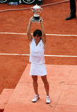 Francesca SCHIAVONE (ITA) at Roland Garros 2010 Royalty Free Stock Photo