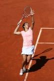 Francesca Schiavone (ITA) in Roland Garros 2011 Royalty-vrije Stock Afbeeldingen