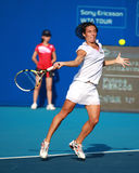 Francesca Schiavone of Italy in action Royalty Free Stock Photos