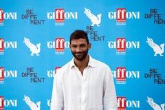 Francesco Arca en el festival de cine de Giffoni Fotografía de archivo libre de regalías