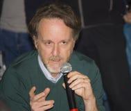 Francesco bruni director and scriptwriter. Francesco bruni talking european film festival stock image
