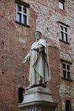 Francesco Di Marco Datini statue in the Comune square, Prato Royalty Free Stock Images