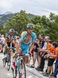 Francesco Gavazzi Climbing Alpe D'Huez Fotografia de Stock Royalty Free