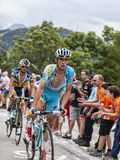 Francesco Gavazzi Climbing Alpe D'Huez Royalty Free Stock Photography