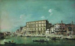 Francesco Guardi - Weergeven van Venetië, 18de eeuw stock afbeelding